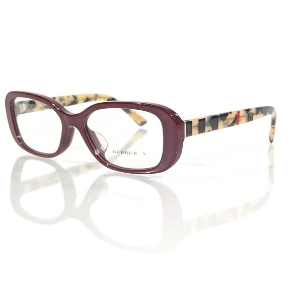 a2842e3996ae BURBERRY B 2228-F Red   Tortoise Shell Eyeglasses